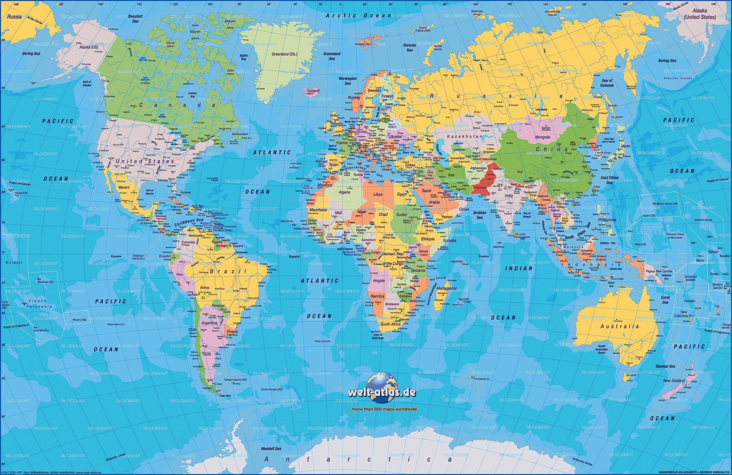 australie carte monde