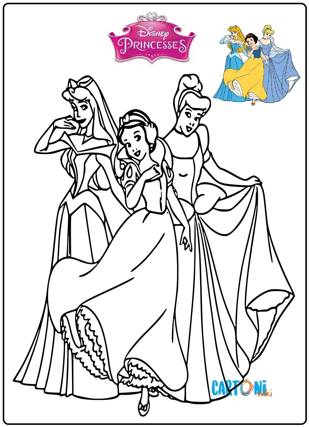 Principesse Disney Disegni Da Colorare Per Bambine