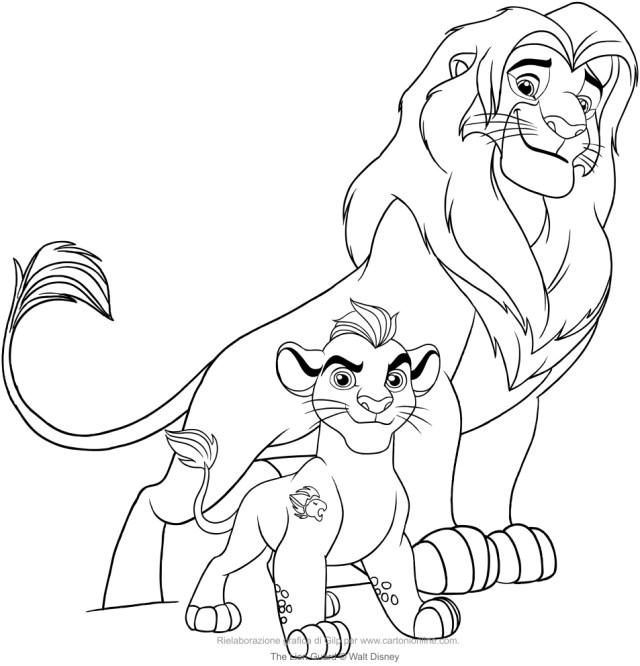 Coloriage de Kion and Simba (La garde du Roi Lion)