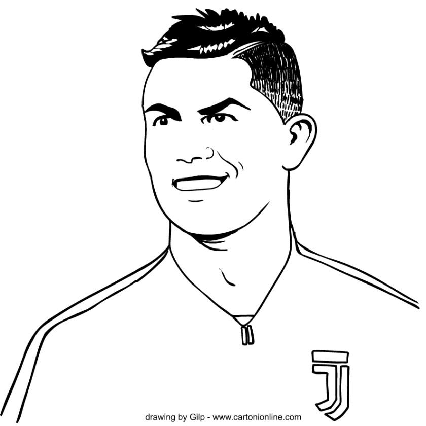drawing 1 of cristiano ronaldo coloring page