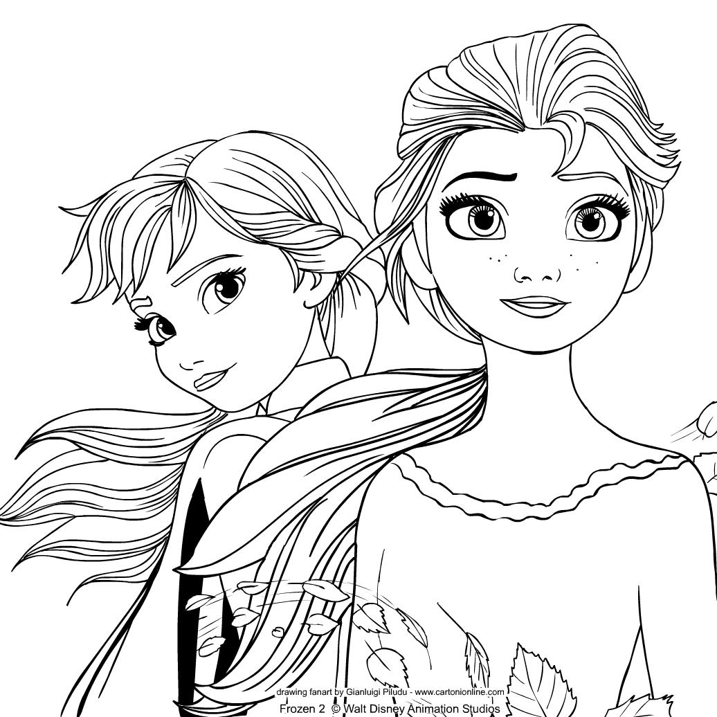Anna Und Elsa Ausmalbilder : Anna Und Elsa Sven Ausmalbilder