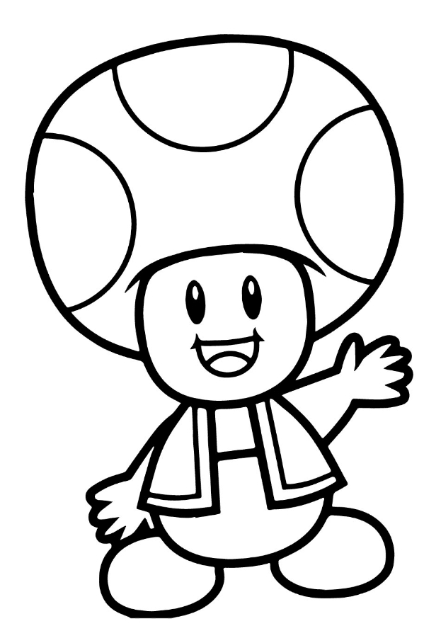 Drawing 1 From Toad Coloring Page