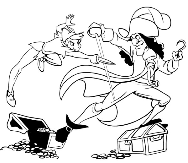 captain hook coloring pages # 6