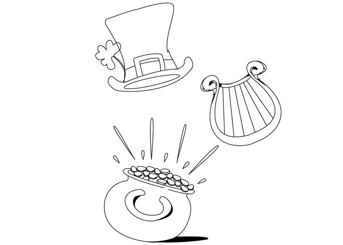 Pot Of Gold Coloring Page Coloring Pages