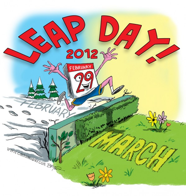 Leap Day as seen by Cartoonaday