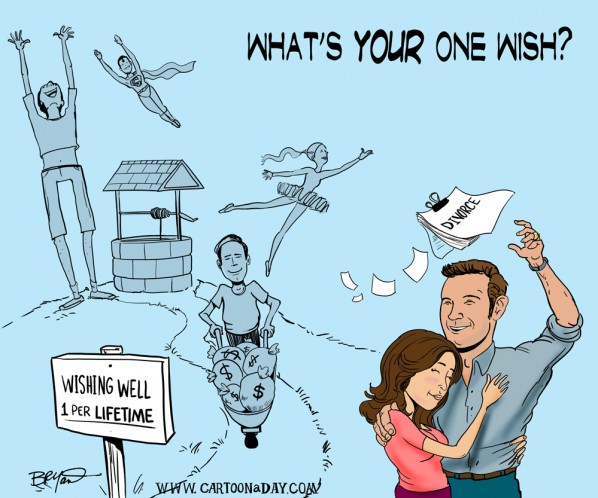 Whats YOUR One Wish Cartoon