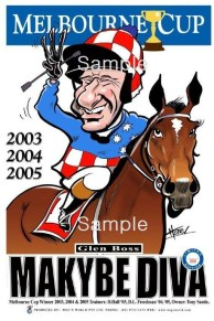 Melbourne Cup 2003 - 04 - 2005 Makybe Diva
