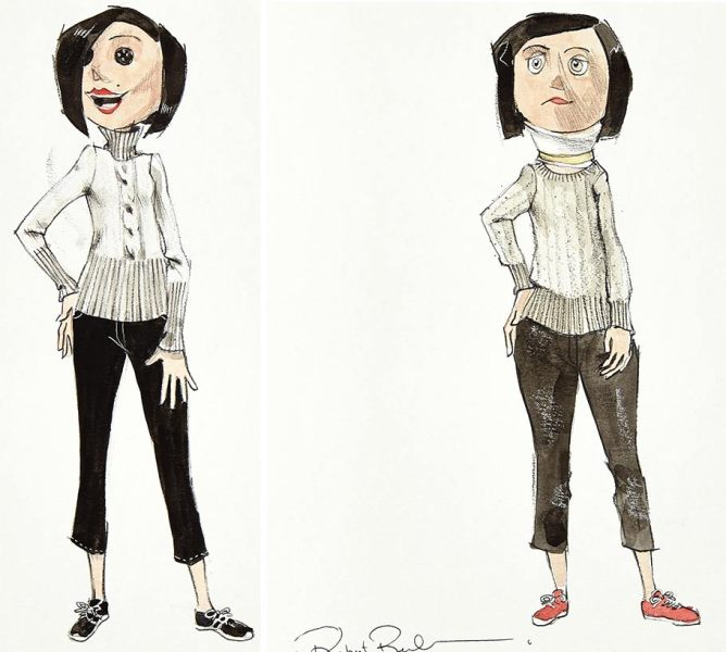 A Peek Into The Art of  Coraline  Book That Never Was  Gallery  A pair of concept character development paintings of Coraline s Mother and  the Other Mother