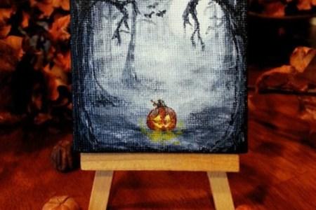 Simple Acrylic Canvas Painting Ideas For Beginners3e4c8866ea7b9c866830ce6b254ab5ce Halloween Paintings