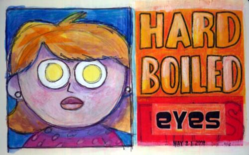 lady with egg eyes