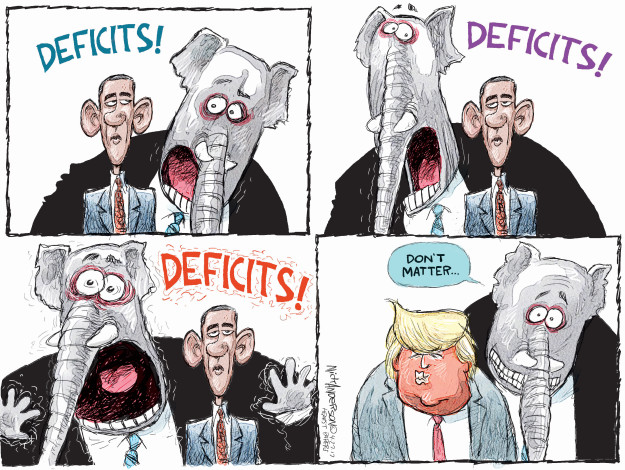 Image result for CARTOONS REPUBLICANS WITH DEFICIT