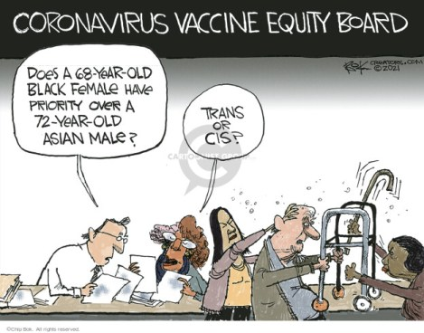 Cartoonist Chip Bok  Chip Bok's Editorial Cartoons 2021-02-26 COVID vaccine