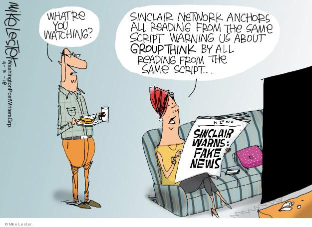 Výsledek obrázku pro watching the news comic