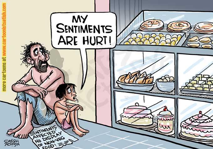 No Display Of Non Veg Food To Protect Sentiments Cartoonistsatish Com