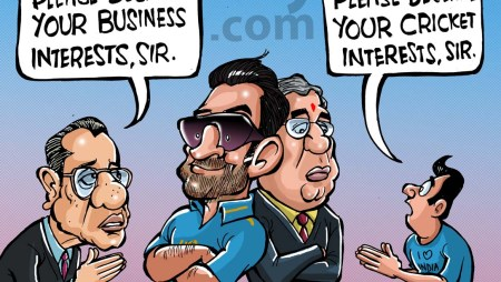 Dhoni & Srini in 'this day, that year' cartoon