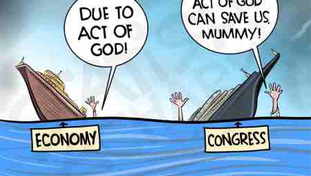 Act of God, China, Congress, GST, Kangana, jobs & other cartoons.