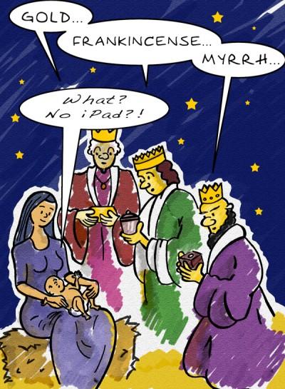 Christmas iPad cartoon