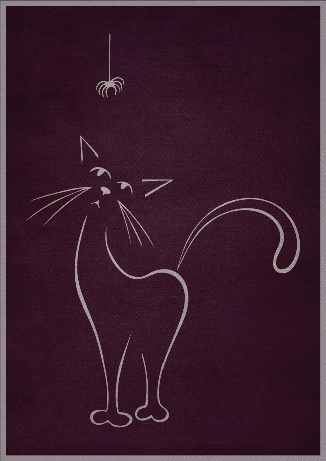 Cat & Spider illustration