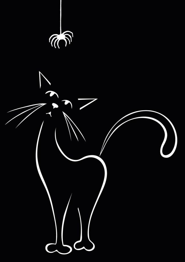 cat spider silhouette