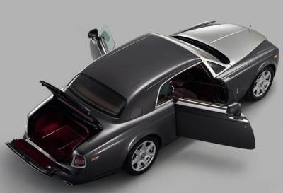 The 2009 Rolls-Royce Phantom Coupe top view