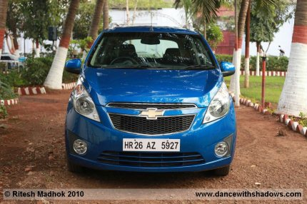 chevrolet beat road test front photo