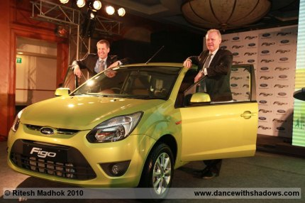ford officials at figo launch