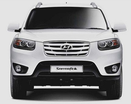 hyundai santa fe front view photo