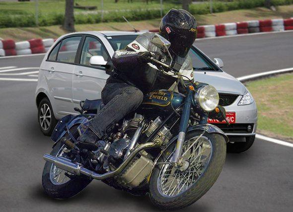 bike vs car photo