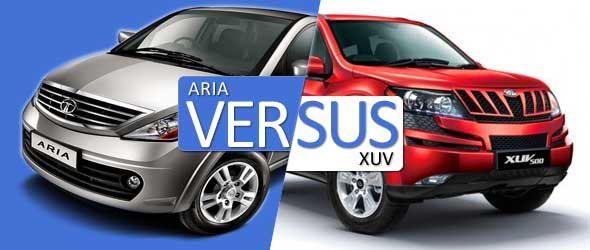 tata aria vs mahindra xuv photo