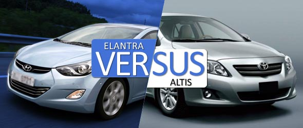 hyundai elantra vs toyota altis comparison