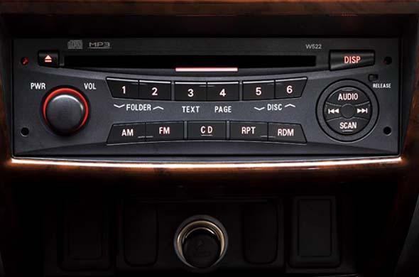 pajero sport music system