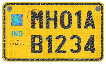 hsrp number plate india