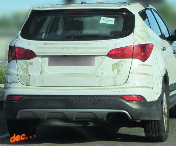 new hyundai santa fe full rear