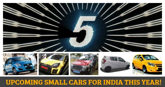 5 upcoming hatchbacks and small cars