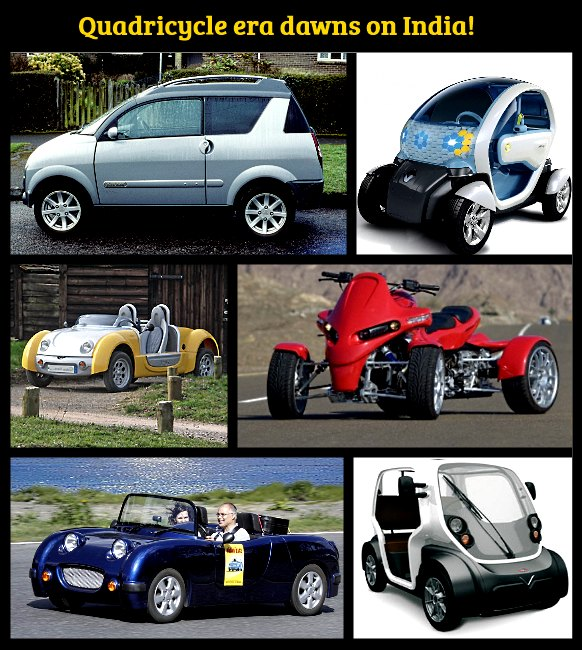 upcoming quadricycles for india