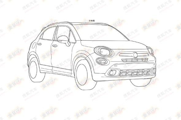 2015 Fiat 500X Crossover Patent Drawing Photo