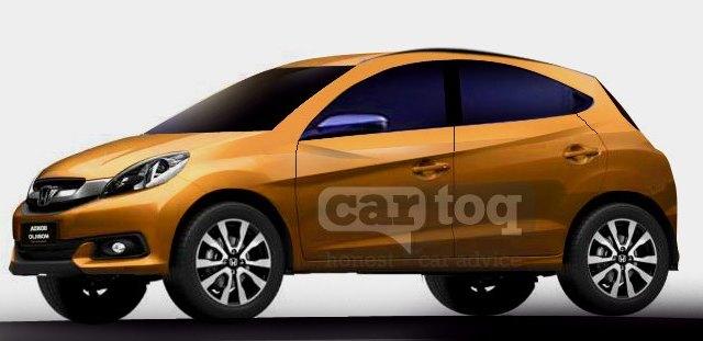 Honda Brio based compact SUV render pic