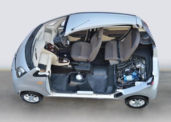 Tata Nano Twist Active AMT Cutaway Image