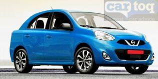 Nissan Micra based compact sedan render blue