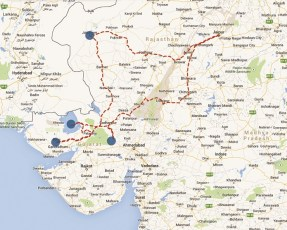 Range Rover Sport road trip map