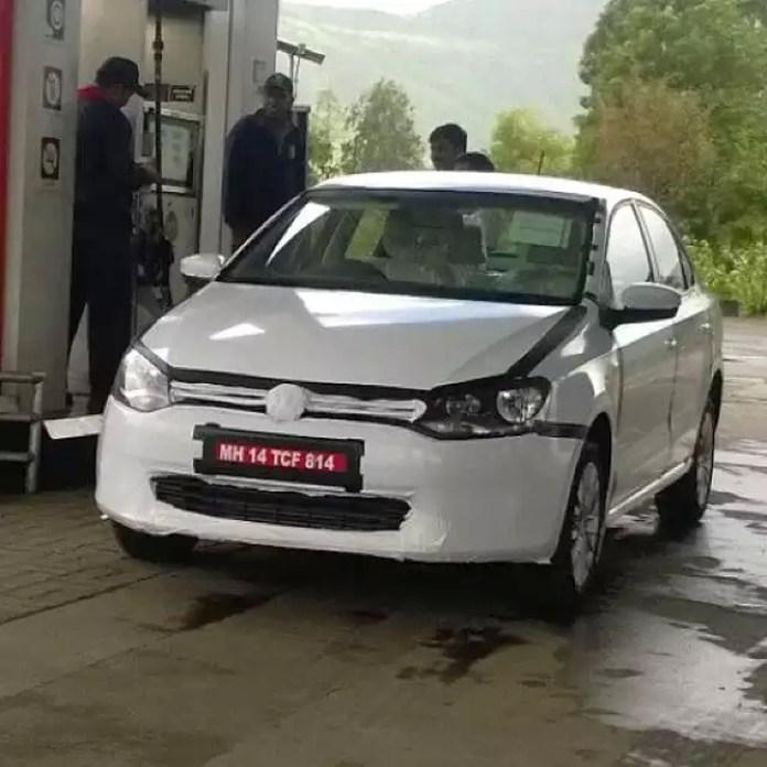 2014 Volkswagen Vento Facelift Test Mule Image