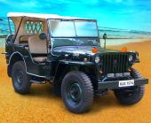 1967 Willy's CJ3A Jeep Front