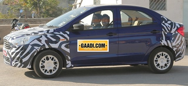 2015 Ford Figo Compact Sedan Spyshot Profile