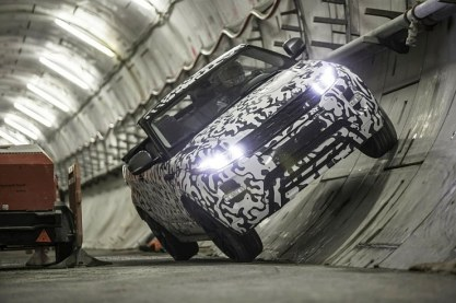 2016 Range Rover Evoque Convertible on the move
