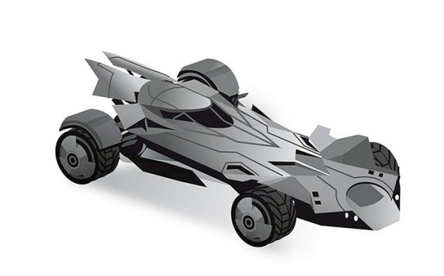 A render of the BatMobile from the Batman vs Superman movie