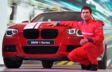 Sachin Tendulkar with the BMW 1-Series