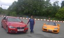 Sachin Tendulkar with the BMW 3-Series 1