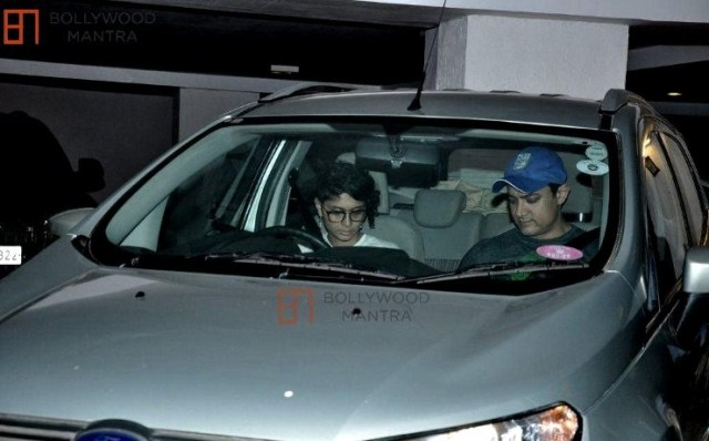 Aamir Khan and Kiran Rao in the Ford Ecosport