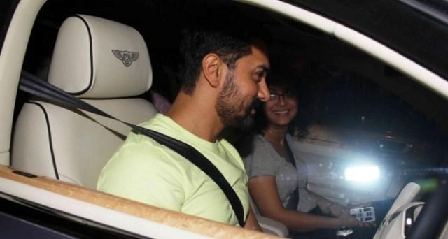 Aamir Khan in his Bentley Continental Flying Spur