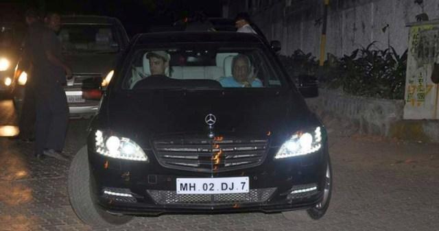 Aamir Khan in his W221 Mercedes Benz S-Class S600 S-Guard